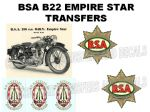 BSA B22 Transfers and Decals Sets